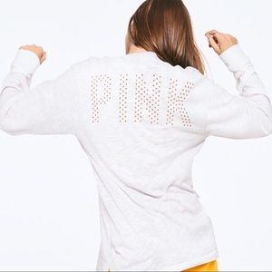 VS PINK campus long sleeve T-shirt